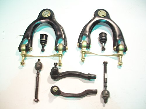 2 Inner Tie Rod Ends, 2 Outer Tie Rod Ends, 2 Upper Control Arms, 2 Lower Ball Joints