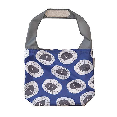 24-7 Premium Reusable Bag With Assorted Prints, Foldable Beach Bag, Grocery Bag, Travel Bag, Shopping Bag - Flip and Tumble (Flowers)