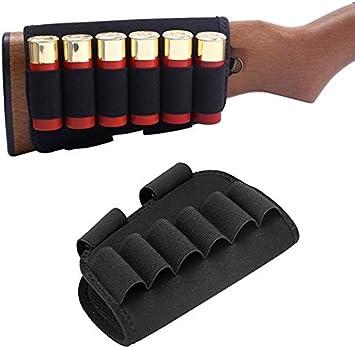 4X Tactical Gun Buttstock Pouch 6Round 12//20GA Shotgun Shell Ammo Carrier Holder