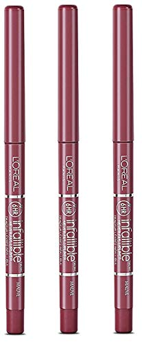L'Oréal Paris Colour Riche Never Fail Lip Liner, Mauve (3 Pack)