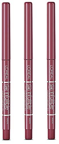 L'Oréal Paris Colour Riche Never Fail Lip Liner, Mauve (3 Pack)