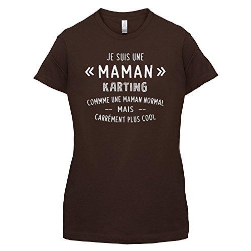 une maman normal karting - Femme T-Shirt - Maron Foncé - S
