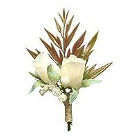 Cupcinu Boutonniere Bride and Bride Boutonniere Wedding Size: 12cm6cm Material: Silk Flower