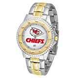 Game Time NFL Kansas City Chiefs Mens Two-Tone CompetitorWrist Watch, White, One Size