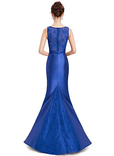 Azbro Women's Fashion Sleeveless Maxi Mermaid Prom Evening Dress Blue
