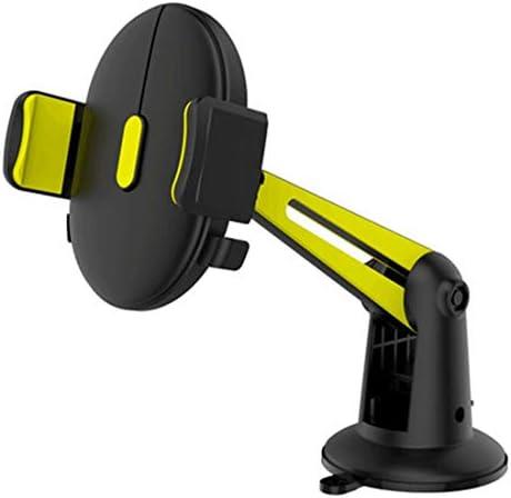 YIKETING 自動車製品用の黄色い吸盤型携帯電話ブラケット (色 : 黒)