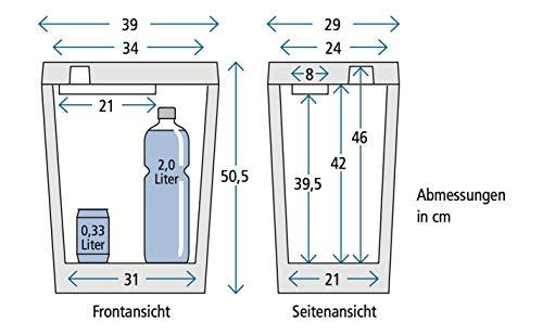 41SyZBWTKhL Zorn® Z32 I Elektrische Kühlbox I Kapazität 30 L I 12/230 V für Auto, Boot, LKW, Balkon und Steckdose