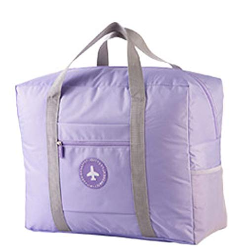 Alvinm Large Capacity Fashion Travel Bag For Man Women Bag Travel Carry on Luggage Foldable Travel Duffel Tote (Purple…