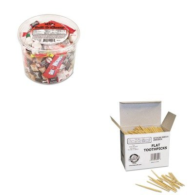 Flat Kraft Wood Chenille (KITCKC369001OFX00013 - Value Kit - Chenille Kraft Flat Wood Toothpicks (CKC369001) and Office Snax Soft amp;amp; Chewy Mix (OFX00013))