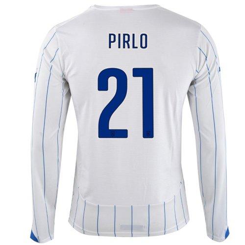 茎外向き尾PUMA PIRLO #21 ITALY AWAY JERSEY WORLD CUP 2014 (Long Sleeve)/サッカーユニフォーム イタリア アウェイ用 長袖 ワールドカップ2014 背番号21 ピルロ