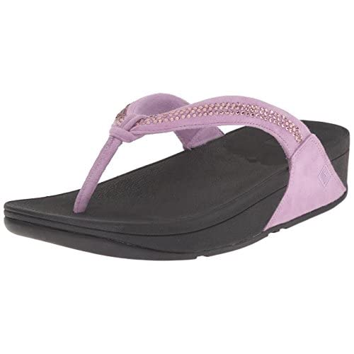 Fitflop Womens Crystal Swirl Flip Flops, Dusty Lilac, 9 M Us Price Tracking-1244
