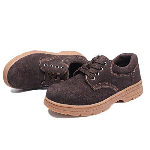 zapatos de seguridad impiden el verano de cabecera de acero punción desodorantes antisquashy calzado transpirable zapatos de seguridad de trabajo Khaki