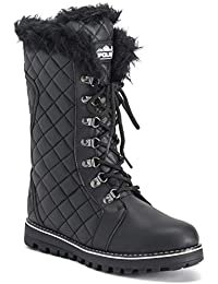 Womens Quilted Comfy Winter Rain Warm Snow Knee High Boot