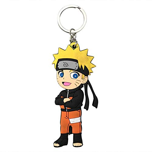 Bowinr Naruto Keychain, Japanese Anime Naruto Shippuden Kawaii Rubber Keyring for Kids, Teens, Adults, and Anime-Fans( Style 04)