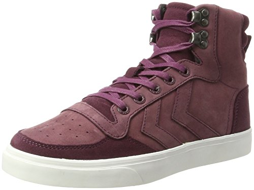 Winter Hautes eggplant Stadil Hummel Adulte Rouge Mixte Sneakers wOax5qC