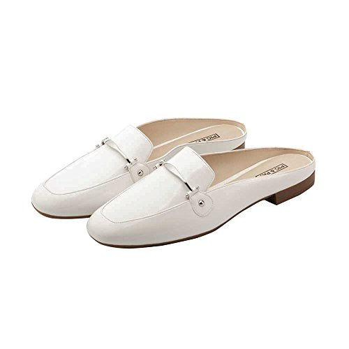 Pic / Lön Devin Kvinna Loafers - Slip-on Backless Mule Vit Pu
