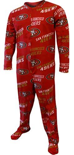 San Francisco 49ers NFL Wildcard Unionsuit Pajamas (Small) - Nfl Wild Card