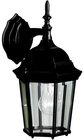 Kichler 9650BK Madison Outdoor Wall 1-Light, Black