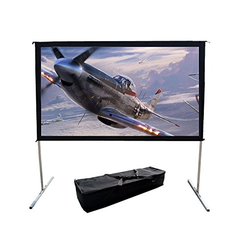 Fast Fold Projector Screen 180 Inch Portable Outdoor Indoor Huge Projection Screen 16:9 Format (Fast Fold Projection Screen)