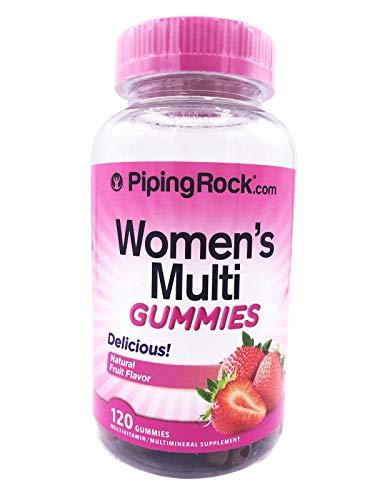 Piping Rock Women's Multi Gummies Natural Fruit Flavor 120 Gummies Multivitamin/Multimineral Supplement