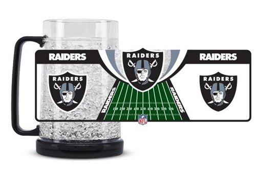 NFL 16 Oz. Beer Glass NFL Team: Oakland Raiders (Cardinals Crystal Freezer Pilsner)