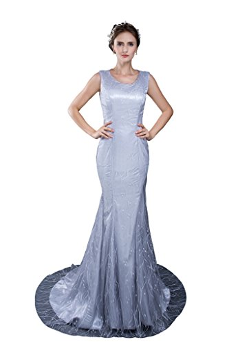 Women's Mermaid Lace Girls Pageant Prom Party Evening Gowns