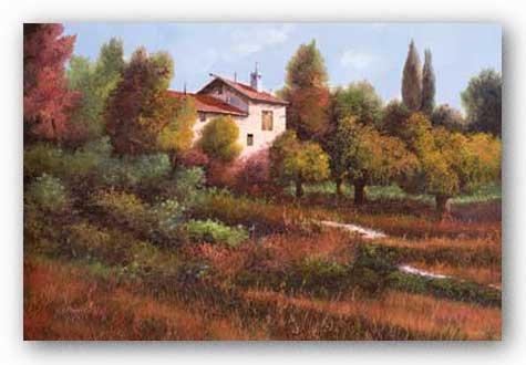 La Casa Nel Bosco  by Guido Borelli 36x24 Art Print Poster I