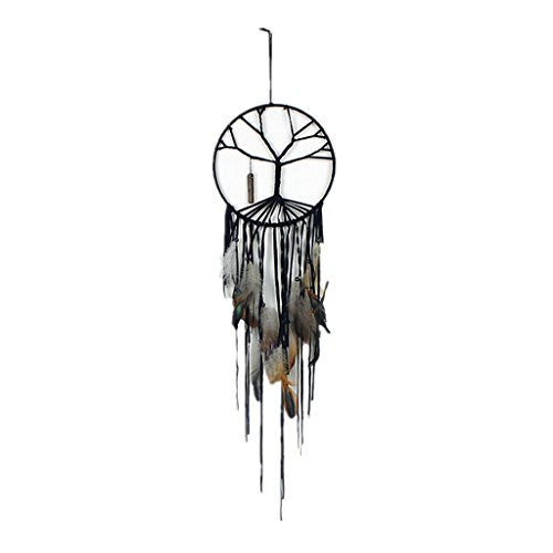 Price comparison product image Gaosaili Handmade Beaded Feather The Tree of Life Dream Catcher
