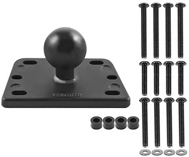1 Set Motorcycle Brake//Clutch Reservoir Cover Base Mount with 1 inch Ball