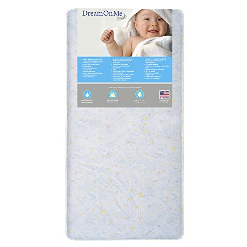 Dream On Me Crib and Toddler, 117 Coil Mattress, Twinkle Star by Dream On Me