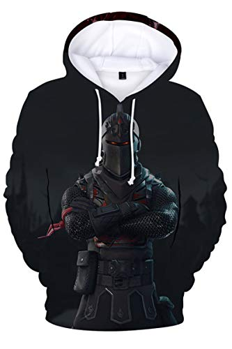 EUGaming Black Knight Theme Hoodies for Mens Fornight Theme Shirt 3D Printed Sweatshirt Polyester S ()