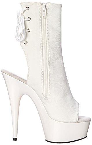 Faux Wht 1018 Pleaser Donna Wht White Stivali Delight Leather 5qSxZxwgYX