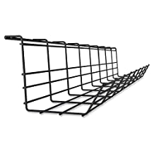 Lorell Mounting Tray for Cable, Black