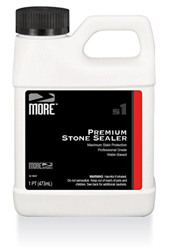 Surface Tile Sealer - MORE Premium Stone Sealer - Water Based Formula - Protection for Natural Stone and Tile Surfaces [Pint / 16 Oz.]