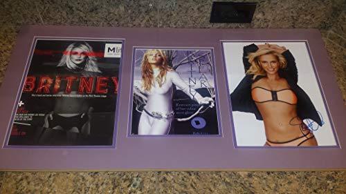 BRITNEY SPEARS sexy signed bikini 11x14 photo/video used glove 32x16