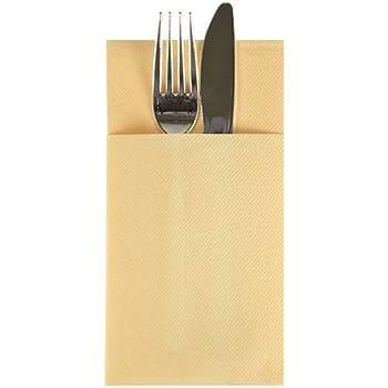 Amazon Com Linen Feel Cloth Like Paper Cutlery Pocket