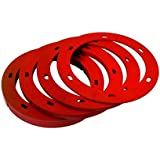 "OATEY 43406 Set-Rite Spacer Kit - Includes All 4 Sizes, 1/8"", 1/4"", 1/2"", 3/4"", 1/8"" - 3/4"", Red"