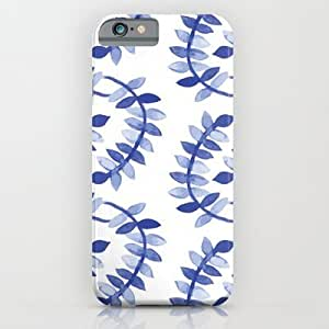 Society6 - Blue Vines iPhone 6 Case by SonyaDeHart