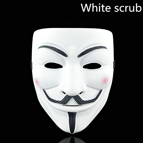 Style Party Masks Mask Anonymous Guy Fawkes Fancy Adult Costume Accessory Party Cosplay Halloween Masks White scrub