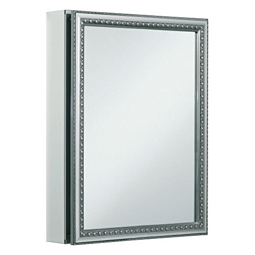 lovely Headwest V-Groove Beveled Mirror Recessed Medicine Cabinet, 16-Inch by 30-Inch