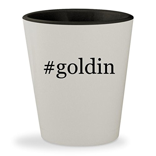 #goldin - Hashtag White Outer & Black Inner Ceramic 1.5oz Shot Glass