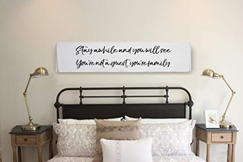Adonis554dan Guest Room Decor Farmhouse Guest Room Guest Room Sign Farmhouse Decor Wood Home Decor Farmhouse Style Stay Awhile Buy Online In Belize Missing Category Value Products In Belize