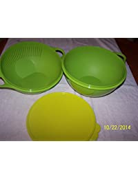 Bargain Tupperware Multifunctional Thatsa Bowl and Colander Lettuce Leaf/Margarita compare