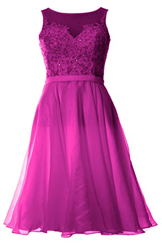 Gown Party Bateau MACloth Homecoming Evening Fuchsia Lace Women Dress Short Cocktail R6qzgqw