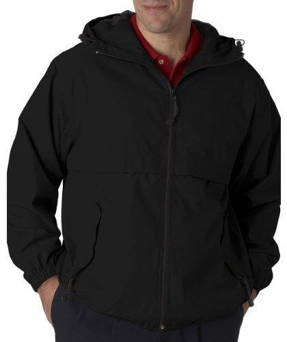 UPC 616401095745, Ultraclub 8908 UC Hooded Zip Jacket - Black - XL