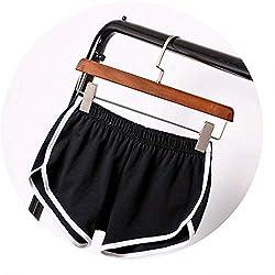 New Summer Shorts Women Casual Shorts Workout Waistband Skinny Short Black Xxl