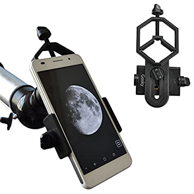 Gosky Universal Cell Phone Adapter Mount - Compatible with Binocular Monocular Spotting Scope Telescope and Microscope - For Iphone Sony Samsung Moto Etc -Record the Nature of the World by Gosky