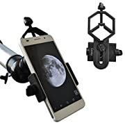 #LightningDeal 93% claimed: Gosky Universal Cell Phone Adapter Mount – Compatible with Binocular Monocular Spotting Scope Telescope and Microscope – For Iphone Sony Samsung Moto Etc -Record the Nature of the World