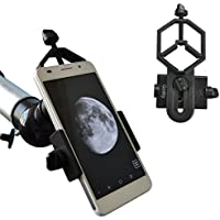 Gosky Universal Cell Phone Adapter Mount – Compatible with Binocular Monocular Spotting Scope Telescope and Microscope – For Iphone Sony Samsung Moto Etc -Record the Nature of the World