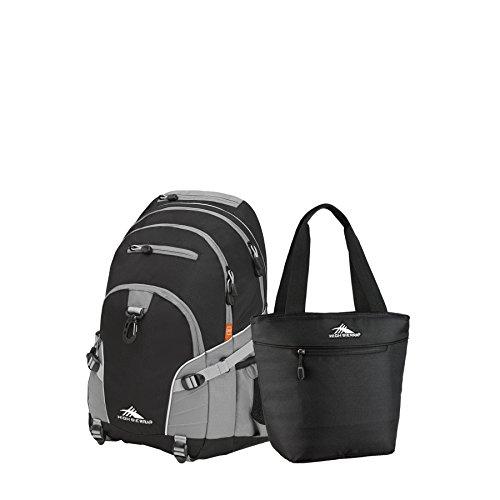 High Sierra Loop Backpack & Lunch Tote Set (Black/Charcoal)